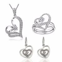 Bộ trang sức trái tim nhẫn đôi