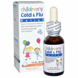 Trị cảm cúm trẻ em Children Cold  Flu Relief Natrabio 30ml của Mỹ