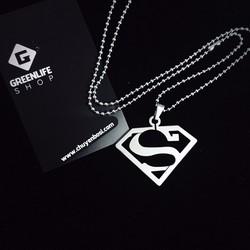 [Greenlife Shop] DX581 - DÂY CHUYỀN INOX SUPERMAN