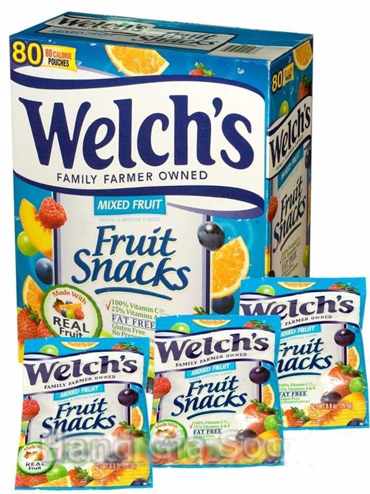 20 bịch Kẹo Dẻo Trái Cây Welchs 25.5g Mỹ 2