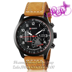 [HOT] Đồng hồ C da bò lịch lãm - CUR01