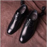 Giày tây nam cột dây kim loại đen đủ size