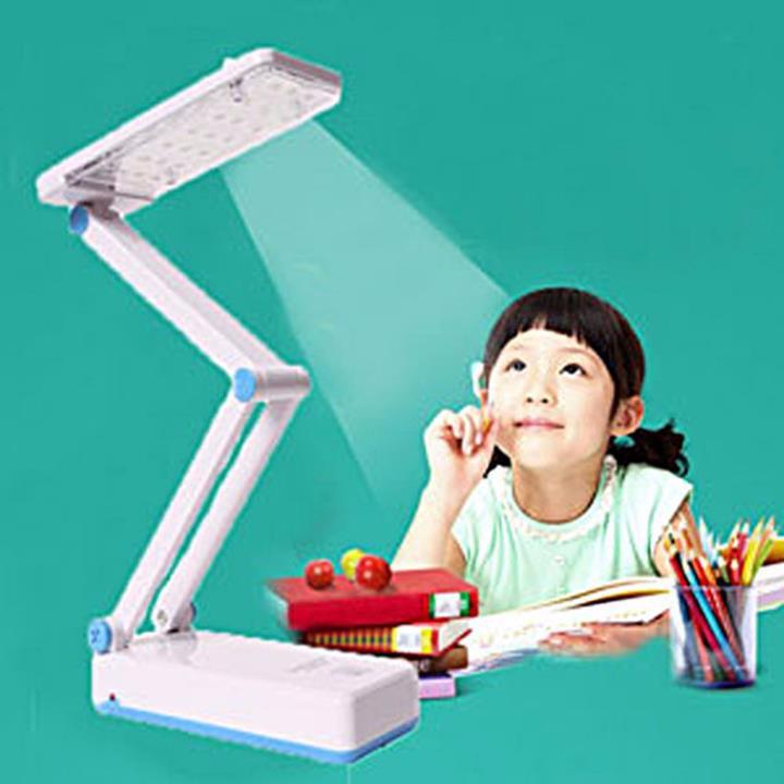 Đèn để bàn học DP- 666 Pin sạc - 24 bóng đèn led – chân xếp 2