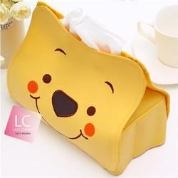 Túi đựng khăn giấy giả da hình gấu Pooh xinh xắn