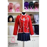Đồng phục Nhật vest đỏ