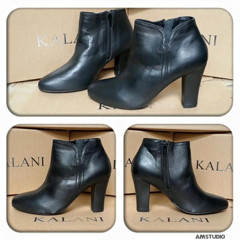 Giày bốt Kalili, gót vuông, da thật, ôm cổ chân 3