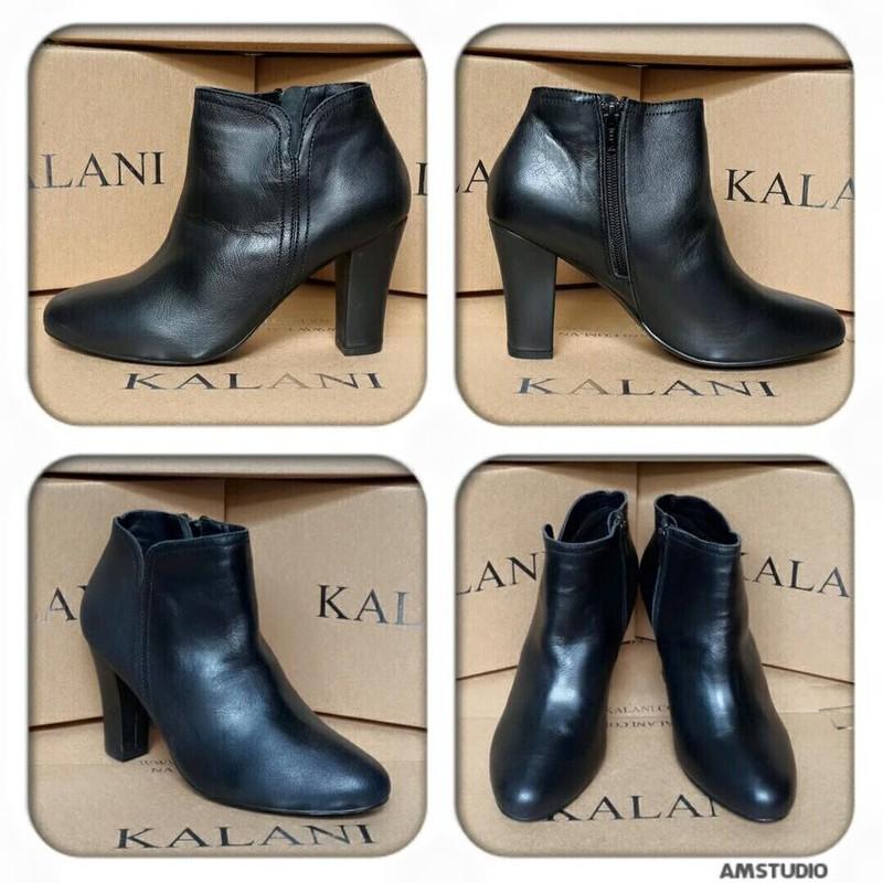 Giày bốt Kalili, gót vuông, da thật, ôm cổ chân 4