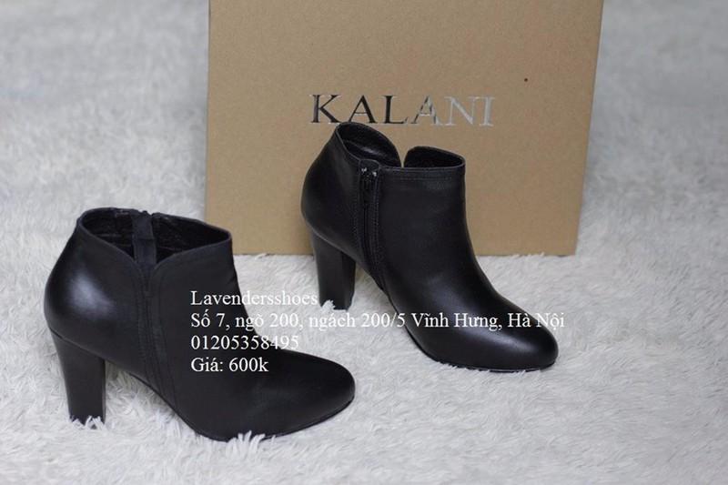 Giày bốt Kalili, gót vuông, da thật, ôm cổ chân 1