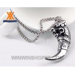 Mặt dây chuyền răng sói MDC158 Màu bạc bởi Winwinshop88