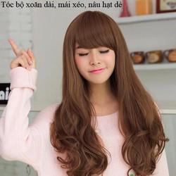 Nguyên bộ tóc xoăn dài xinh yêu, kèm lưới trùm lun nhé