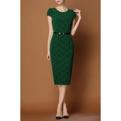 Đầm ren hoa nổi Lady TAT85D