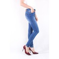 Quần jeans nữ dài wash bạc IF41 thương hiệu ImagineU