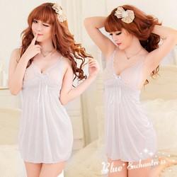 Váy ngủ gợi cảm màu trắng