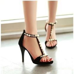 Giày cao gót đính ngọc trai YK_VG01