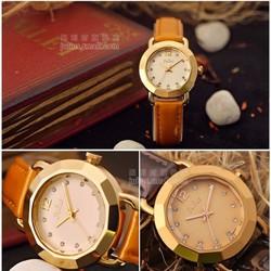 Đồng hồ nữ dây da chính hãng Ju990 Mặt kính 3D tuyệt đẹp - Thương Hiệu