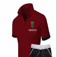 HaCo_Bộ quần áo thể thao MONSTER cổ bẻ bán lẽ giá sĩ
