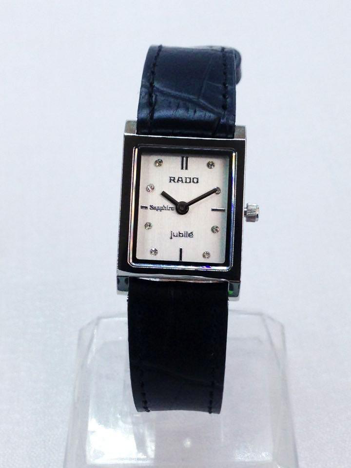dong ho rado nu day da mat vuong mau trang rd052w 1m4G3 9133c6 Để tìm mua đồng hồ Casio chính hiệu phải để ý gì?