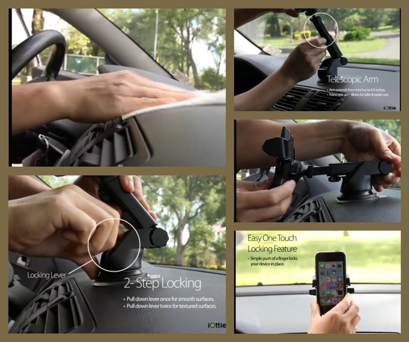 FREESHIP - Giá treo - đỡ - kẹp điện thoại ô tô gắn táp lô loại tốt 10