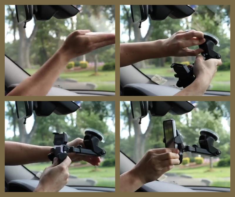 FREESHIP - Giá treo - đỡ - kẹp điện thoại ô tô gắn táp lô loại tốt 12