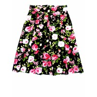 chân váy vintage xếp ly dài ngang gối-HÀNG ĐẶT MAY THIẾT KẾ