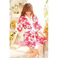 Áo khoác ngủ kimono phi bóng