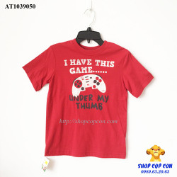 Áo thun màu đỏ chữ I have this game