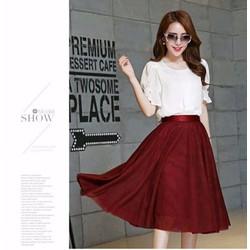 Set đầm váy xòe tay áo cách điệu - TP390170