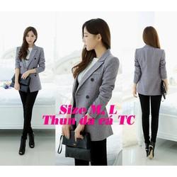 Áo khoác vest form dài cực tôn dáng và phong cách - ak102