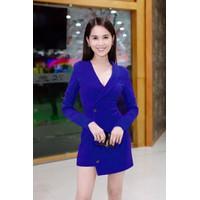 Đầm vest xanh Ngọc Trinh D341