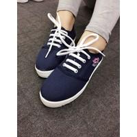 Giày thể thao họa tiết môi màu xanh đen N1