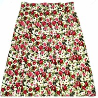 chân váy vintage xếp ly dài ngang gối-hàng đặt may