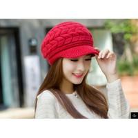 nón mũ len dệt kim nhập khẩu phong cách Hàn thời trang mới