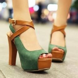 HÀNG CAO CẤP CHẤT NGOẠI NHẬP - Giày cao gót thời trang quai đan ôm