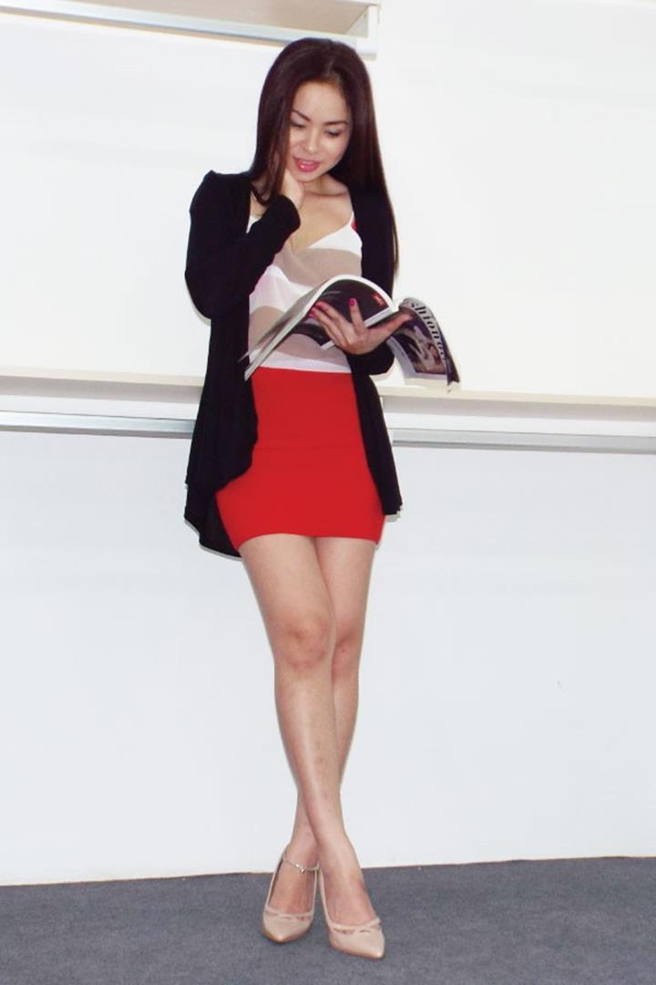 Áo khoác cardigan Hàn Quốc mỏng dài IN001BLK đen 1