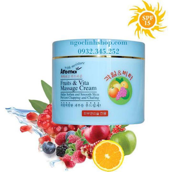 Kem massage trái cây AROMA trắng da, chống lão hóa
