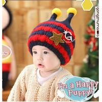 Mũ len lót bông tuyết ấm áp cho bé hình sâu