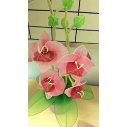 Lọ hoa voan lan hồ điệp để bàn - Quà tặng, trang trí