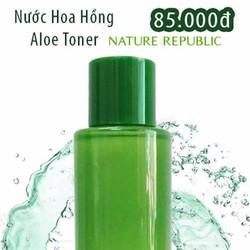 Nước Hoa Hồng Aloe Toner Chính Hãng Nature Republic