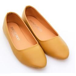 Giày Búp Bê Trơn Vàng. Shop Uy Tín