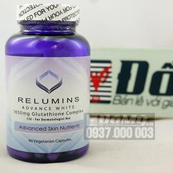 Viên uống trắng da Relumins glutathione của Mỹ