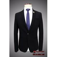 Áo vest nam thời trang cao cấp TUTTAT 8042-0 Màu đen