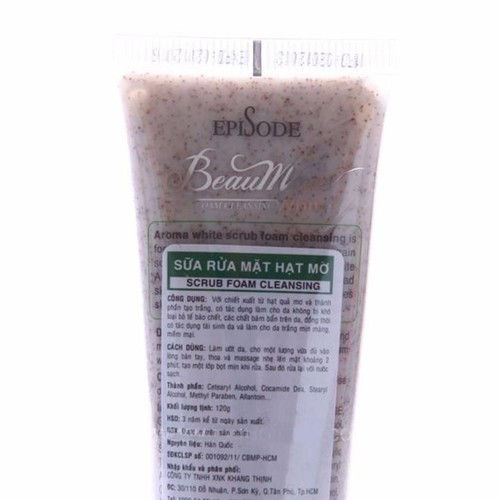 Sữa Rửa Mặt Hạt Mơ Beaumore_120g