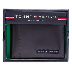Bóp Da Tommy Hilfiger Men of Cambridge Passcase Wallet, Brown