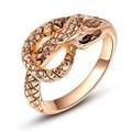 Nhẫn con rắn tinh xảo mạ màu vàng hồng R0011-RGP