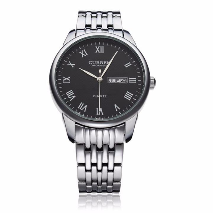 Đồng hồ nam dây da cao cấp chống thấm, chống xước 6