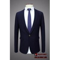 Áo vest nam body thời trang cao cấp TUTTAT 88006-19 xanh tím than