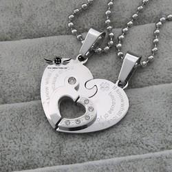 Mặt dây chuyền đôi inox khắc tên MDC52 bạc
