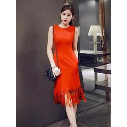 Đầm suông form dài tua rua - D1992-1166