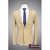 Áo vest thô nam, vest kaki body TUTTAT 88002-16 Vàng kem