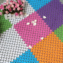 Thảm nhà tắm ghép nối chống trơn màu sắc ngọt ngào